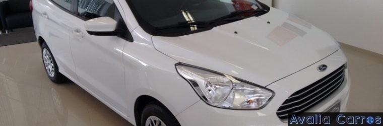 Nosso Ford KA+ sedan está em teste de longa duração.