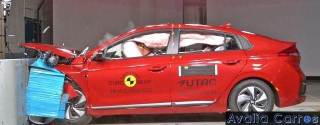 O IIHS e o Euro NCAP testaram o Hyundai Ioniq