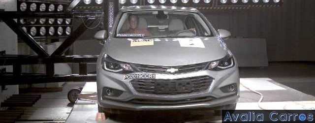 5 estrelas no Latin NCAP para o Chevrolet Cruze