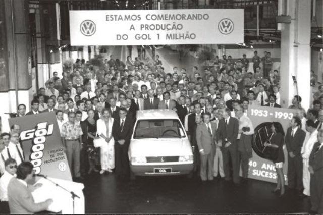 Em 1993 foi atingida a marca de 1 milhão de Gols quadrados produzidos.