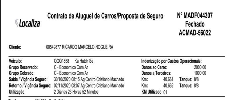 Avaliando Gato por Lebre - Localiza aluga Ford Ka com mais de 40 mil km e no contrato coloca um Gol novo
